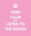 KEEP CALM AND LISTEN TO THE KOOKS - Personalised Tea Towel: Premium