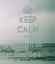 KEEP CALM AND Listen to The Sea - Personalised Tea Towel: Premium