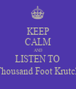 KEEP CALM AND LISTEN TO  Thousand Foot Krutch - Personalised Tea Towel: Premium