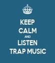 KEEP CALM AND LISTEN TRAP MUSIC - Personalised Tea Towel: Premium