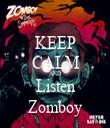 KEEP CALM AND Listen Zomboy - Personalised Tea Towel: Premium