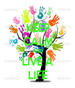 KEEP CALM AND LIVE A LIFE - Personalised Tea Towel: Premium