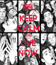 KEEP CALM AND LIVE NOW - Personalised Tea Towel: Premium