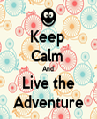 Keep  Calm  And  Live the Adventure - Personalised Tea Towel: Premium