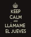 KEEP CALM AND LLÁMAME  EL JUEVES - Personalised Tea Towel: Premium