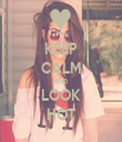 KEEP CALM AND LOOK HOT - Personalised Tea Towel: Premium