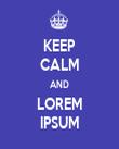 KEEP CALM AND LOREM IPSUM - Personalised Tea Towel: Premium