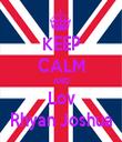 KEEP CALM AND Lov Rhyan Joshua - Personalised Tea Towel: Premium