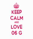 KEEP CALM AND LOVE 06 G - Personalised Tea Towel: Premium