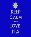 KEEP CALM AND LOVE  11 A - Personalised Tea Towel: Premium