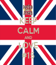KEEP CALM AND LOVE #15 - Personalised Tea Towel: Premium