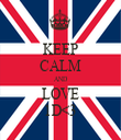 KEEP CALM AND LOVE 1D<3 - Personalised Tea Towel: Premium