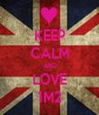 KEEP CALM AND LOVE 1M2 - Personalised Tea Towel: Premium