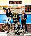 KEEP CALM AND LOVE 24/SEVEN - Personalised Tea Towel: Premium