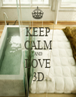 KEEP CALM AND LOVE 3D - Personalised Tea Towel: Premium
