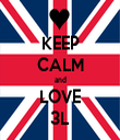 KEEP CALM and LOVE 3L - Personalised Tea Towel: Premium