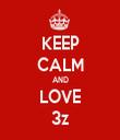 KEEP CALM AND LOVE 3z - Personalised Tea Towel: Premium