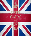 KEEP CALM AND LOVE 4D - Personalised Tea Towel: Premium