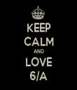 KEEP CALM AND LOVE 6/A - Personalised Tea Towel: Premium