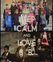 "KEEP CALM AND LOVE 6 ""B"" - Personalised Tea Towel: Premium"