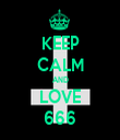 KEEP CALM AND LOVE 666 - Personalised Tea Towel: Premium