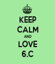 KEEP CALM AND LOVE 6.C - Personalised Tea Towel: Premium