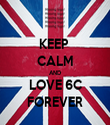 KEEP  CALM AND LOVE 6C FOREVER - Personalised Tea Towel: Premium