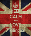 KEEP CALM AND LOVE 7 Bilingual - Personalised Tea Towel: Premium