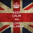 KEEP CALM AND LOVE 7ALABLB - Personalised Tea Towel: Premium