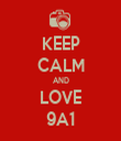 KEEP CALM AND LOVE 9A1 - Personalised Tea Towel: Premium