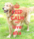 KEEP CALM AND love aïka - Personalised Tea Towel: Premium