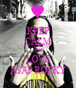 KEEP CALM AND LOVE A$AP ROCKY - Personalised Tea Towel: Premium