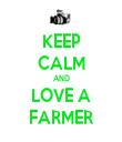 KEEP CALM AND LOVE A FARMER - Personalised Tea Towel: Premium