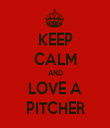 KEEP CALM AND LOVE A PITCHER - Personalised Tea Towel: Premium
