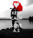 KEEP CALM AND LOVE A.S - Personalised Tea Towel: Premium