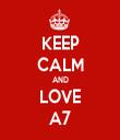 KEEP CALM AND LOVE A7 - Personalised Tea Towel: Premium