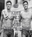 KEEP CALM AND LOVE ABERCROMBIE - Personalised Tea Towel: Premium