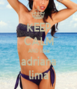 KEEP CALM AND love adriana lima - Personalised Tea Towel: Premium