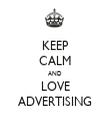 KEEP CALM AND LOVE ADVERTISING - Personalised Tea Towel: Premium