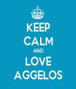 KEEP CALM AND LOVE AGGELOS - Personalised Tea Towel: Premium