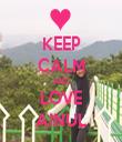 KEEP CALM AND LOVE AINUL - Personalised Tea Towel: Premium