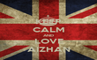 KEEP CALM AND LOVE AIZHAN - Personalised Tea Towel: Premium
