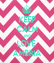 KEEP CALM AND LOVE  AMBRIA - Personalised Tea Towel: Premium