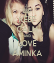 KEEP CALM AND LOVE AMINKA - Personalised Tea Towel: Premium