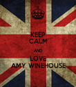 KEEP CALM AND LOVE AMY WINEHOUSE - Personalised Tea Towel: Premium