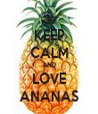 KEEP CALM AND LOVE ANANAS - Personalised Tea Towel: Premium