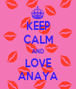 KEEP CALM AND LOVE ANAYA - Personalised Tea Towel: Premium