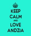 KEEP CALM AND LOVE ANDZIA - Personalised Tea Towel: Premium