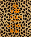 KEEP CALM AND LOVE ANIMAL PRINT - Personalised Tea Towel: Premium