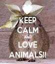 KEEP CALM AND LOVE ANIMALS!! - Personalised Tea Towel: Premium